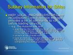 subkey information for smss