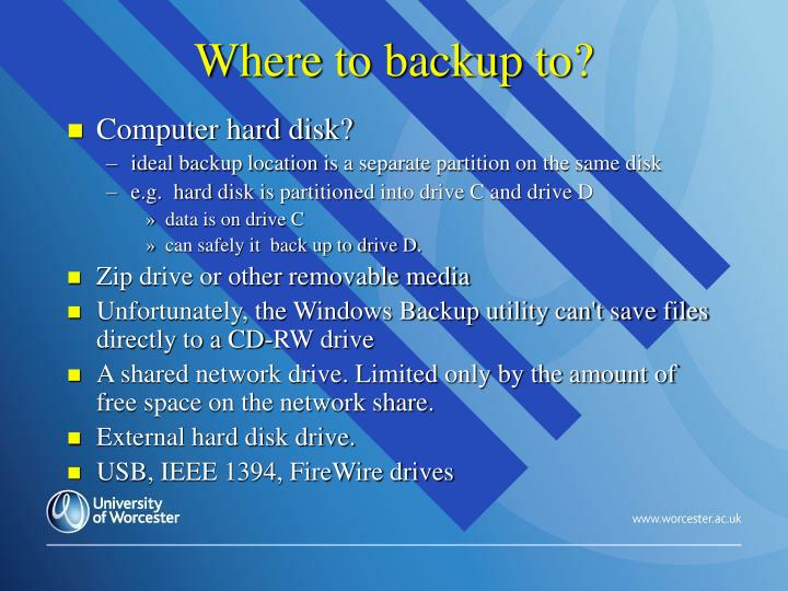 Where to backup to?