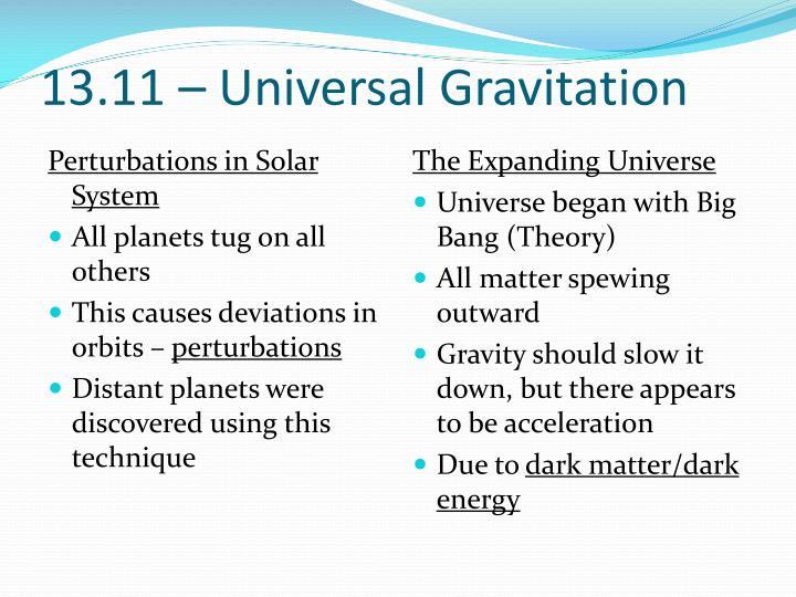 13.11 – Universal Gravitation