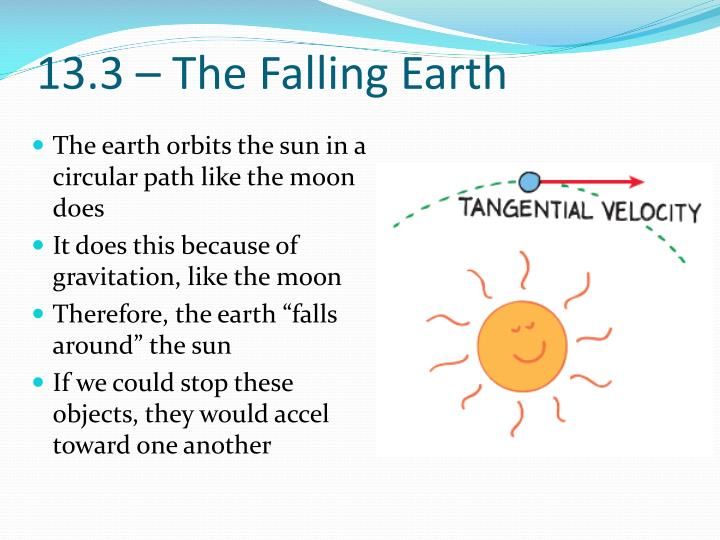 13.3 – The Falling Earth
