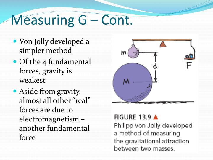 Measuring G – Cont.