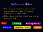 exploration matrix1