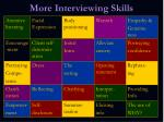 more interviewing skills