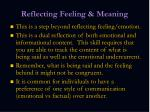 reflecting feeling meaning