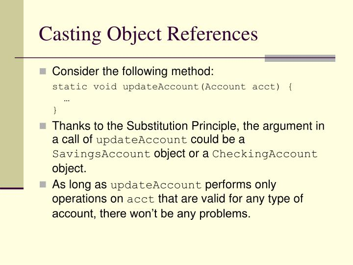 Casting Object References