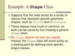 example a shape class