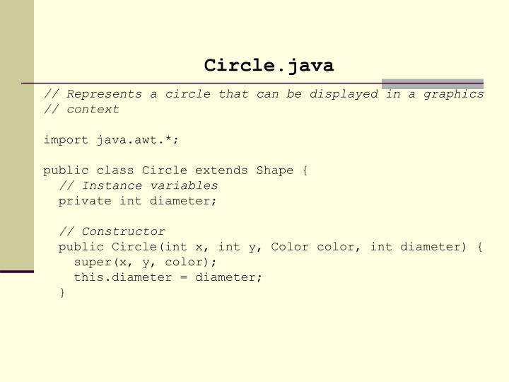 Circle.java