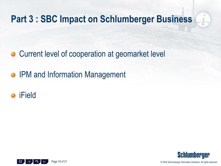 Part 3 : SBC Impact on Schlumberger Business