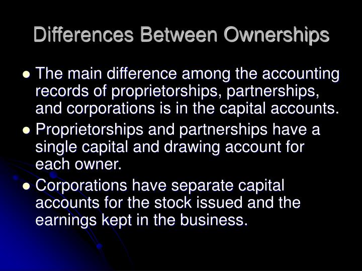 Differences Between Ownerships