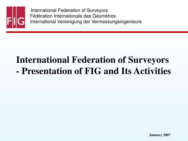 International Federation of Surveyors