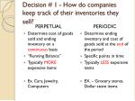 decision 1 how do companies keep track of their inventories they sell