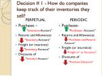 decision 1 how do companies keep track of their inventories they sell1