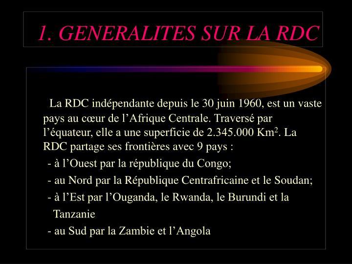 1. GENERALITES SUR LA RDC