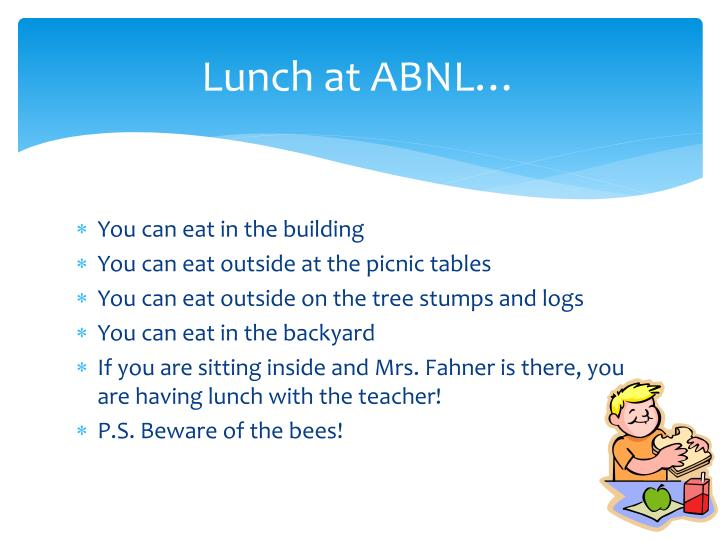 Lunch at ABNL…