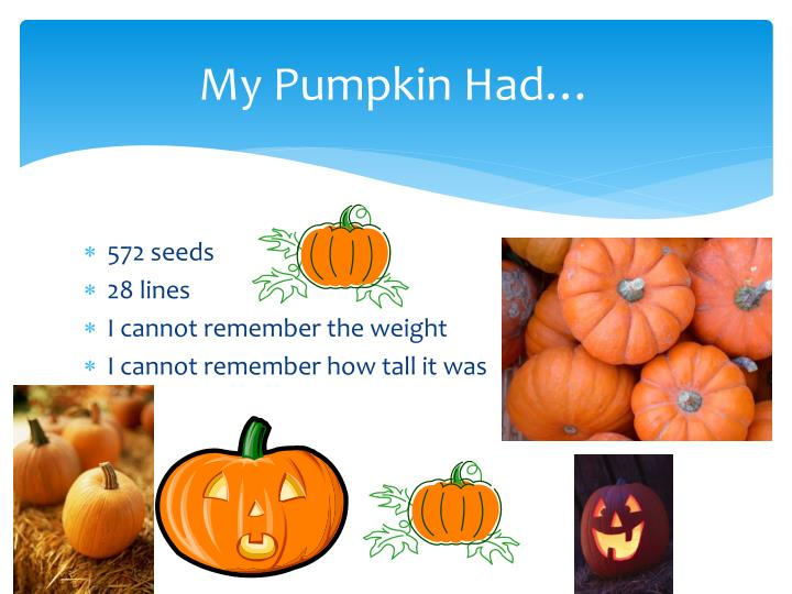 My Pumpkin Had…