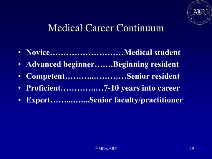 Medical Career Continuum