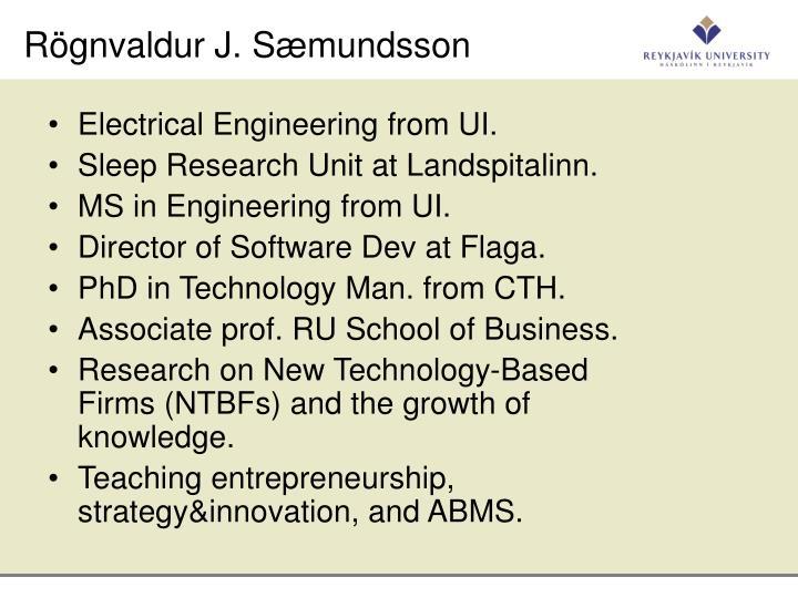 Rögnvaldur J. Sæmundsson