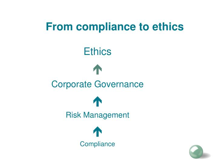 From compliance to ethics
