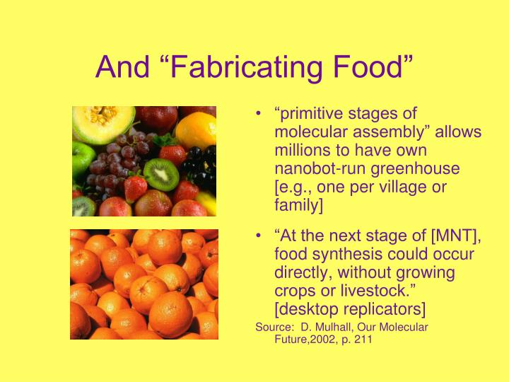 "And ""Fabricating Food"""