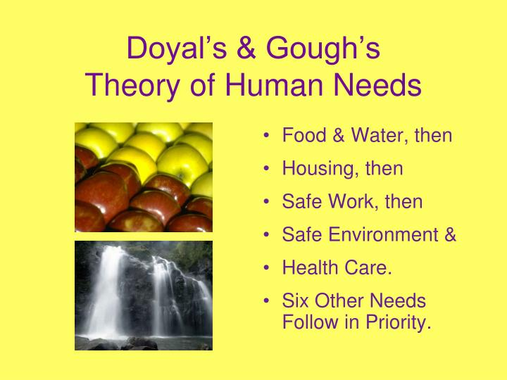 Doyal's & Gough's