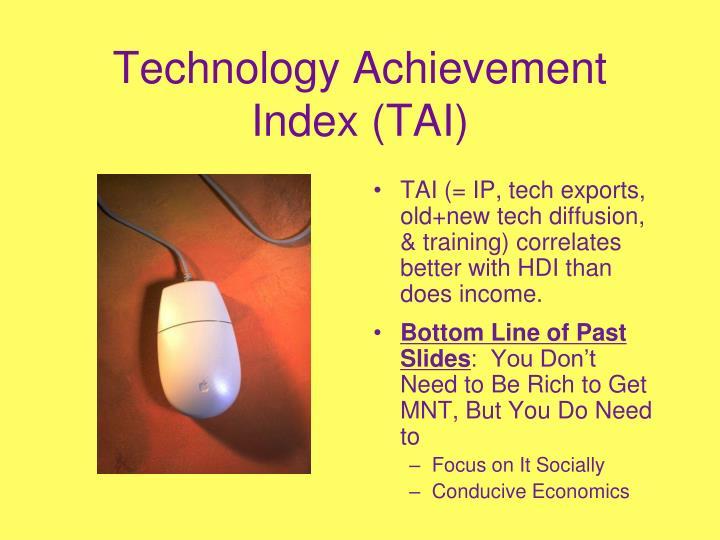 Technology Achievement Index (TAI)