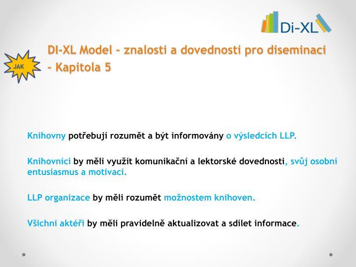 DI-XL Model – znalosti a dovednosti pro diseminaci – Kapitola 5