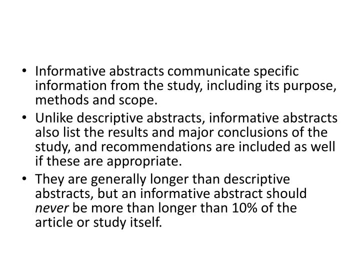 dissertation abstracts description