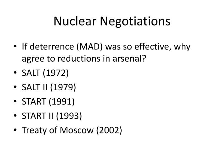 Nuclear Negotiations