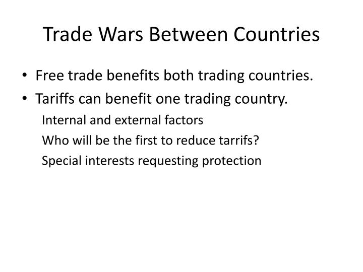 Trade wars between countries