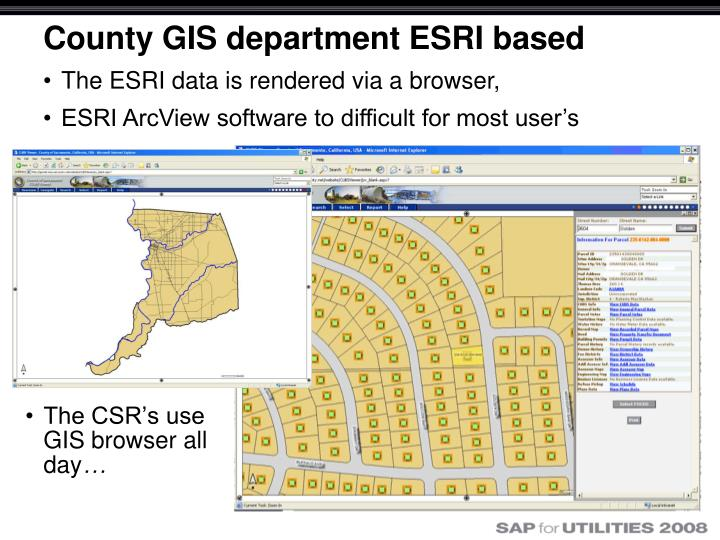 County GIS department ESRI based