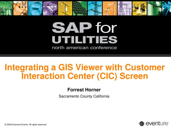 Integrating a gis viewer with customer interaction center cic screen