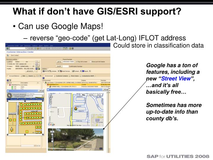 What if don't have GIS/ESRI support?