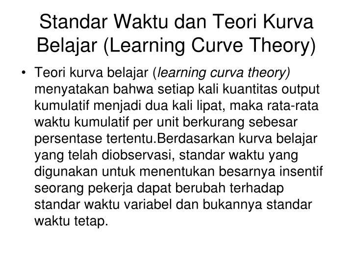 Standar Waktu dan Teori Kurva Belajar (Learning Curve Theory)