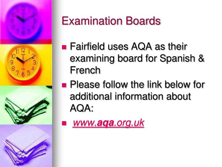 Examination Boards