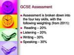 gcse assessment