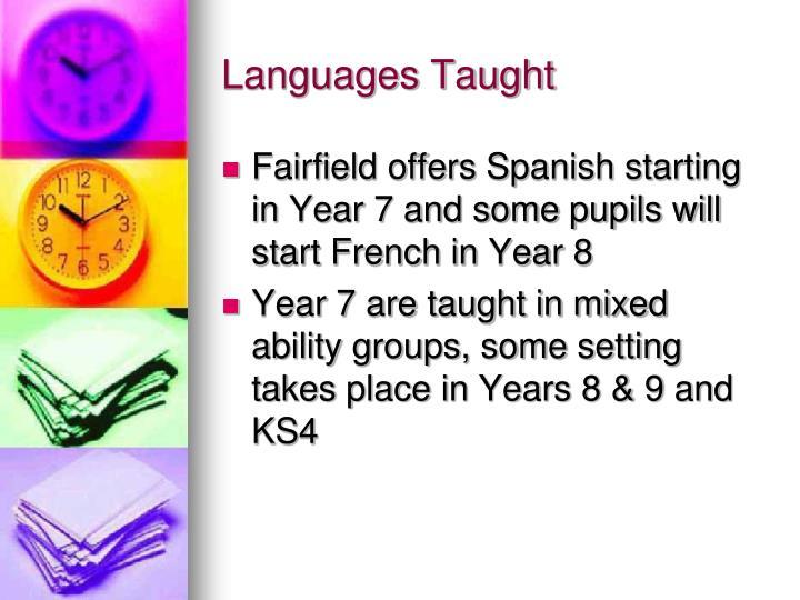 Languages Taught