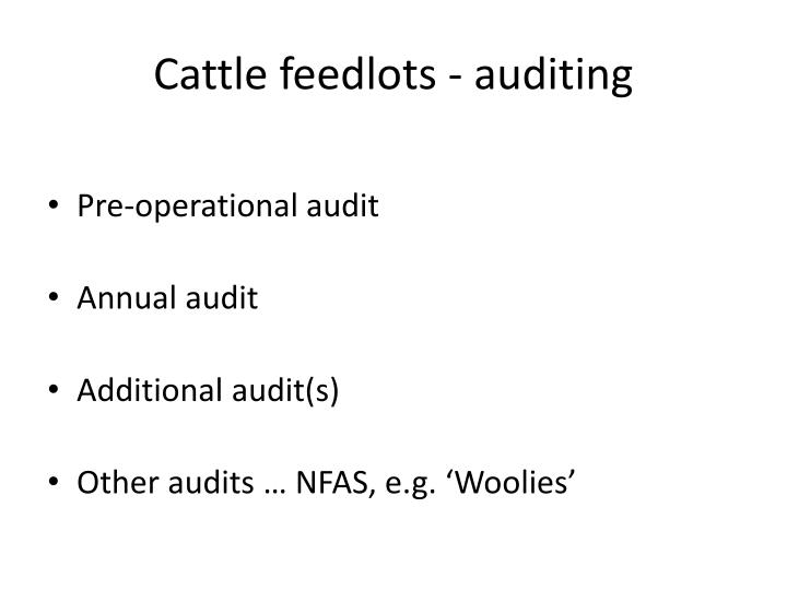 Cattle feedlots - auditing