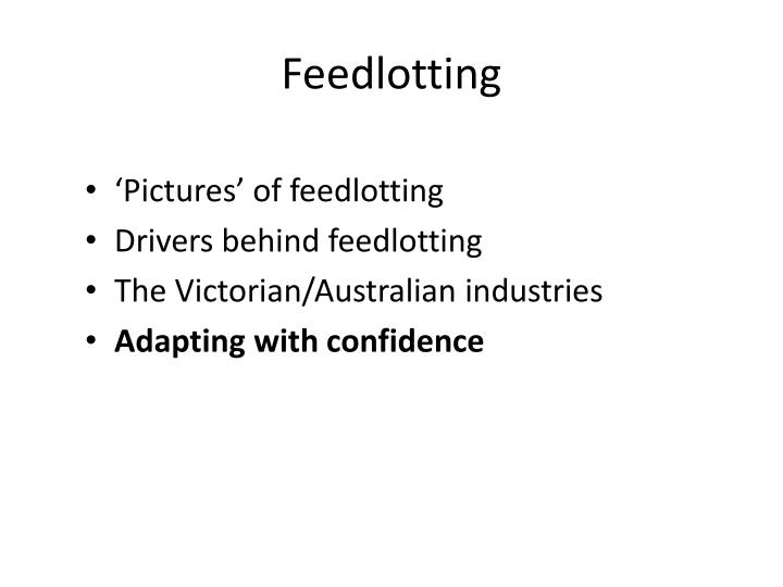 Feedlotting