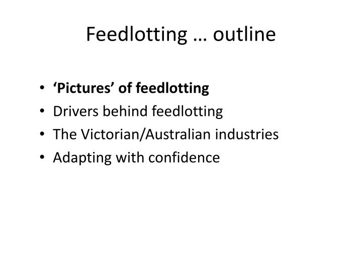 Feedlotting outline