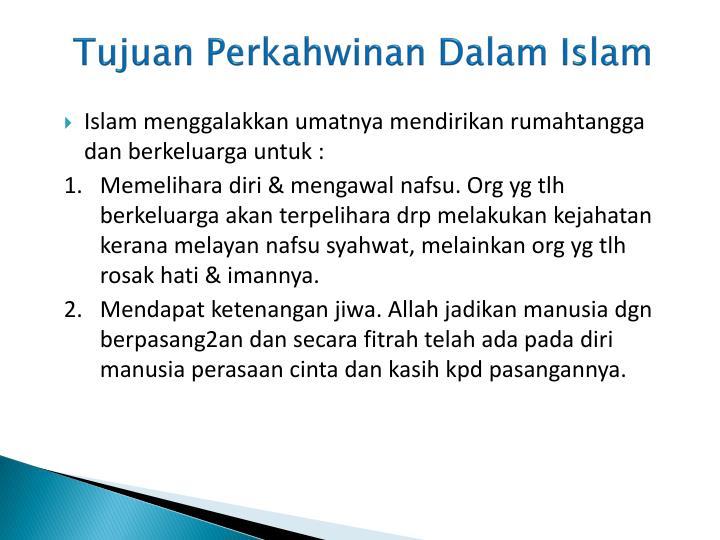 Tujuan Perkahwinan Dalam Islam