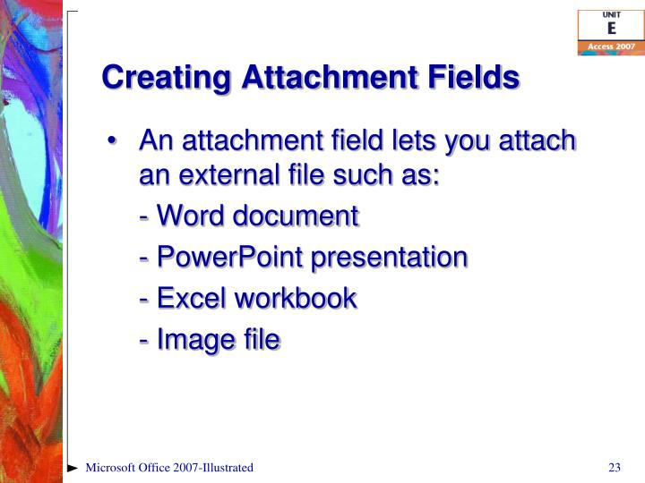 Creating Attachment Fields