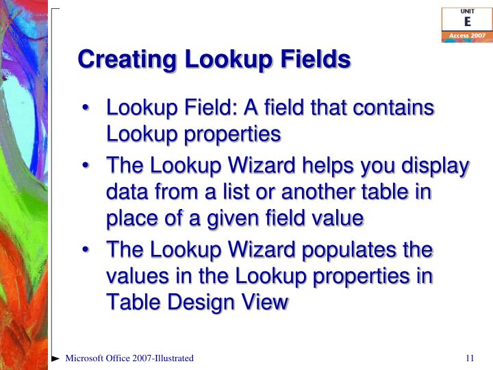 Creating Lookup Fields