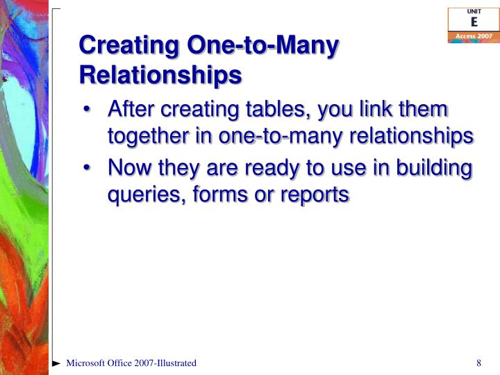 Creating One-to-Many Relationships
