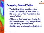 designing related tables1