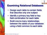 examining relational databases