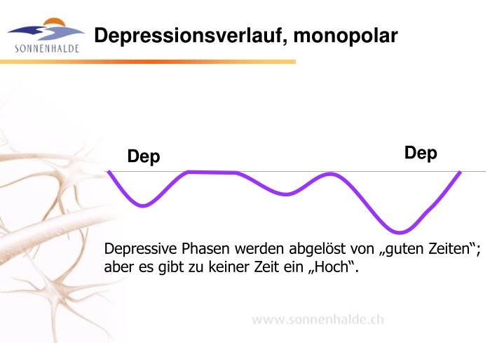 Depressionsverlauf, monopolar