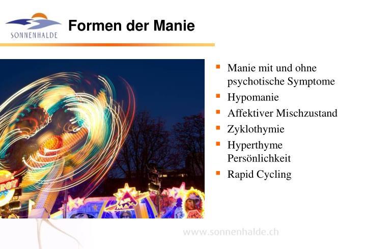 Formen der Manie
