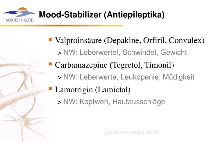 Valproinsäure (Depakine, Orfiril, Convulex)