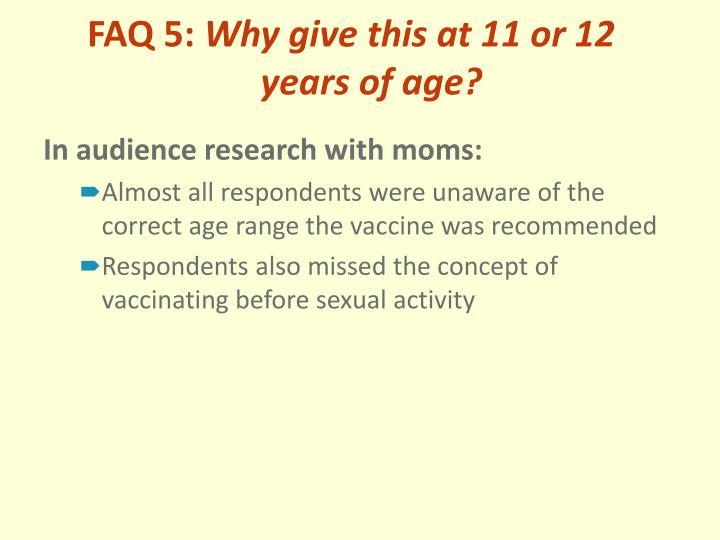 FAQ 5:
