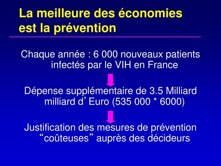 La meilleure des économies est la prévention